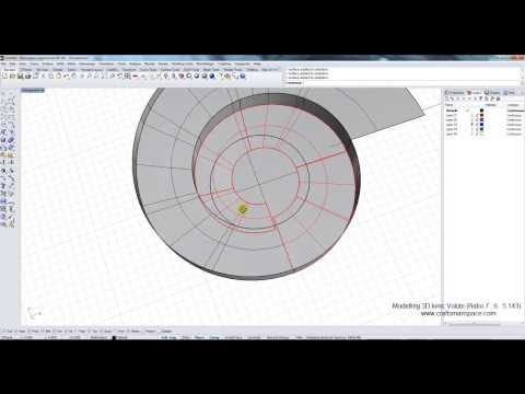 Modelling 3D Ionic Volute in Rhino 3D CAD software