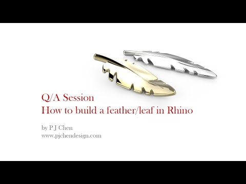 Q/A: How to build a feather/leaf model in Rhino