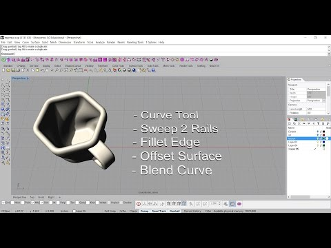 How to build espresso cup model to 3D print at shapeways