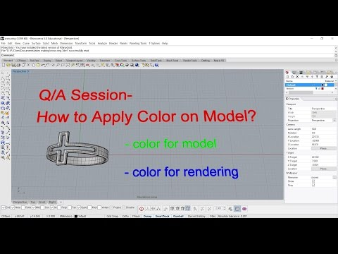 Q/A: How to apply color on Rhino model