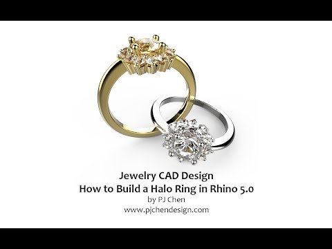 Jewelry CAD Design- How to build halo ring model in Rhino 3D