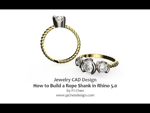 Jewelry CAD Design Tutorial #14: How to Build a Rope Shank in Rhino 5