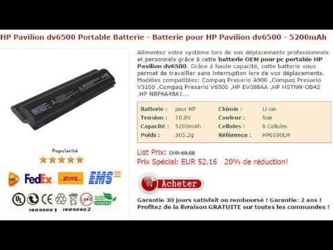 HP Pavilion dv6500 Portable Batterie - Batterie pour HP Pavilion dv6500