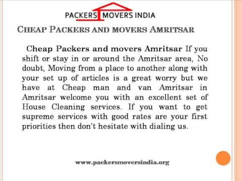 Packers and movers Amritsar Removal Services-Packersmoversindia.org