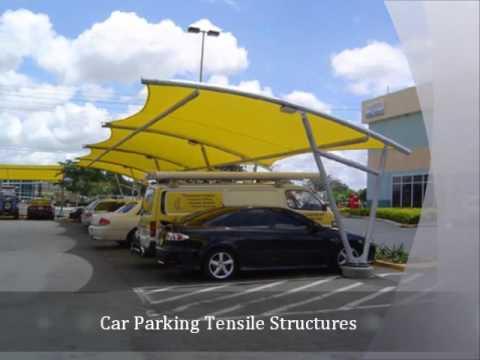 Car Parking Tensile Structures, polycarbonate shade structure manufacturers, gazebo tensile structures