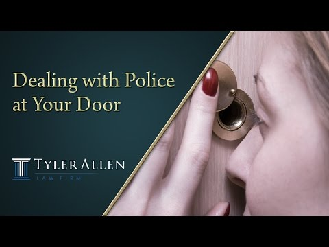 Dealing with Police at Your Door