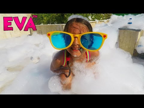 Bad Baby Steals Foam and magically appears on Foam Party Learn Colors Finger Family Nursery Rhymes