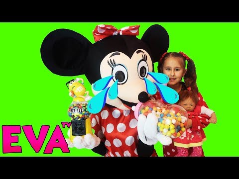 Bad Baby Learn Colors with Crying Baby Dolls Minnie Mouse Nursery Rhymes Song