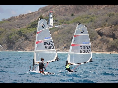 Downwind Sailing Instruction on O'Pen Bic and Laser dinghies