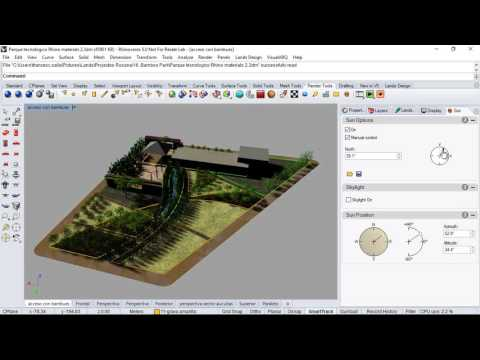 Shadow simulation study in Rhino and Lands Design