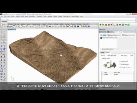 Scan and import a terrain from Google Earth