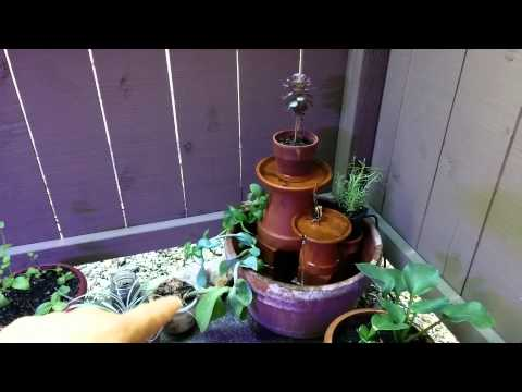 DIY Planted Terra Cotta Fountain