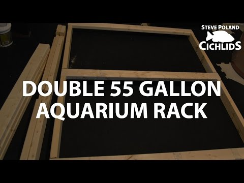 Double 55 Gallon Aquarium Rack