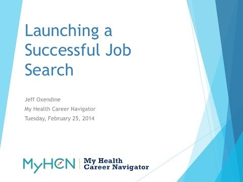 MyHCN Webinar: Launching a Successful Job Search