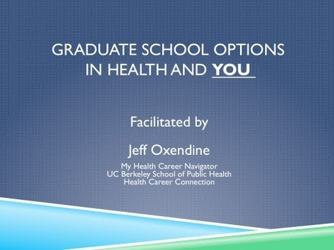 MyHCN Webinar:  Graduate Programs in Health