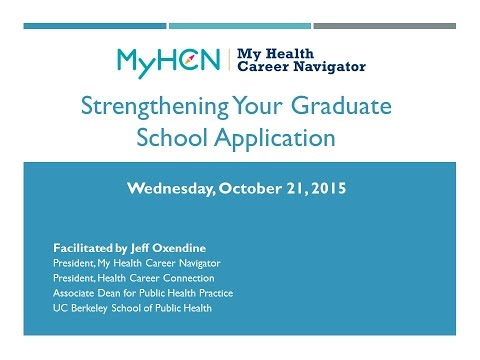 Getting into Grad School: Strengthening your Application
