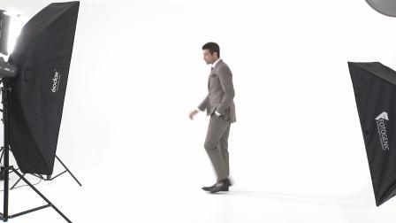 Tailor made Mens Khaki Birds-Eye Pattern Suit