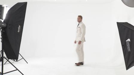 Custom Tailored Beige Linen Mens Suit
