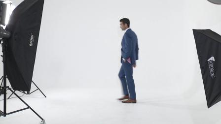 Tailor made Slim Fit Blue Mens Suit