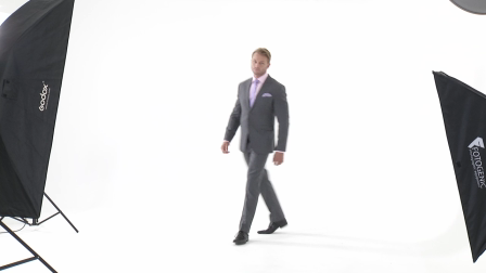 Get Your Mid-Grey Wool Suit in Stylish Light-Grey Pinstripe