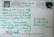 Mail art by Jan Hodgman (Anacortes, Washington, USA)
