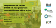 Inequality in the face of COVID-19: how grassroots communities are taking action