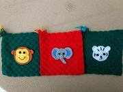 Monkey, elephant and tiger