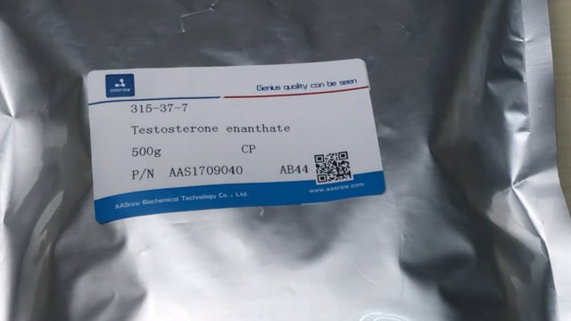 Raw Testosterone Enanthate powder (315-37-7) hplc≥98% | AASraw Anabolics Steroids raw powder