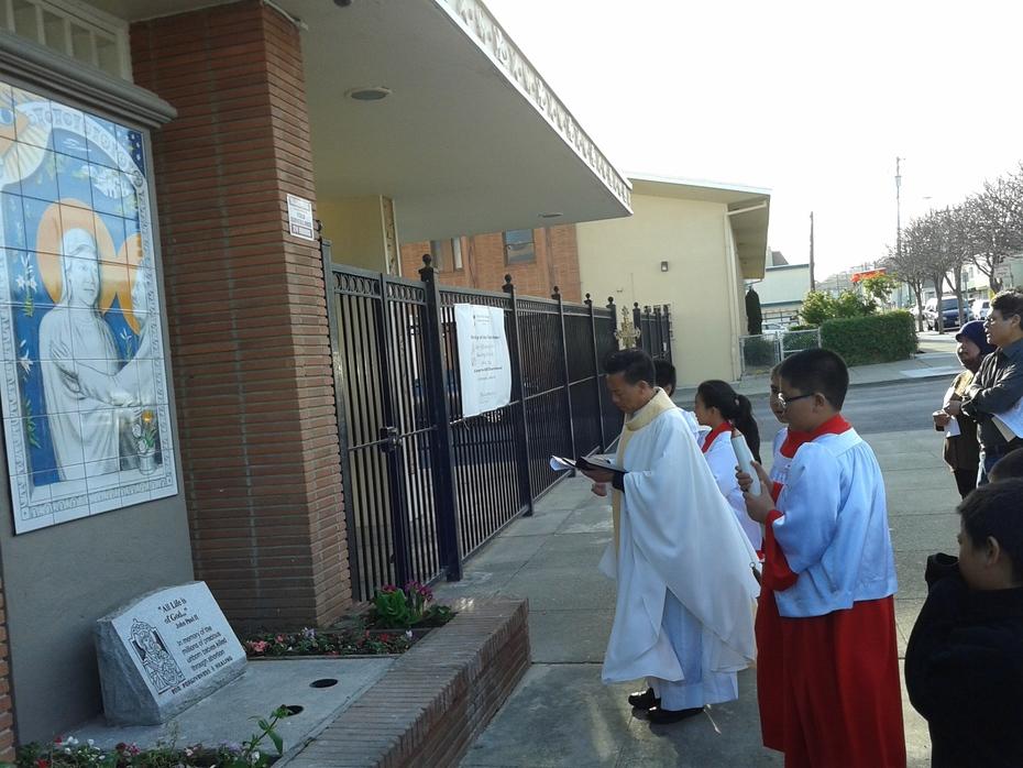 The Visitation, outside Church of the Visitacion