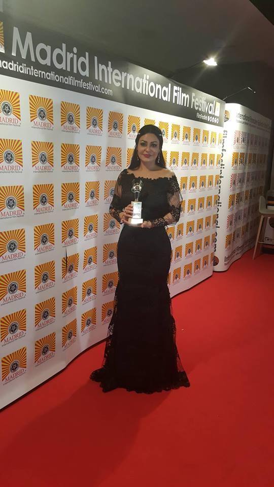 المخرجة الصبيحي تحصد جائزة مهرجان مدريد السينمائي الدولي