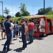 Specialty Coffee truck for sale, espresso food truck catering, not la marzocco but a great machine UNIC Start a coffee business! Coffee food cart trailer truck