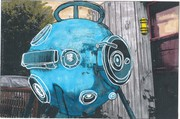 Thea Hollister Diving helmet