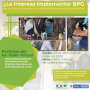 imagen foto sobre buenas practicas ganaderas taller virtual del 20 de abril al  de mayo
