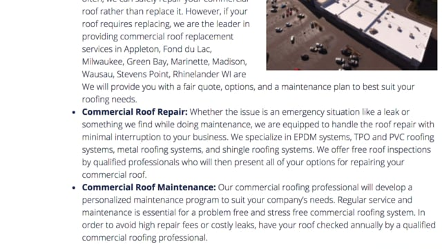 ARC Commercial | Appleton Commercial Roofing Companies