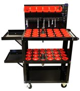 CNC Tool cart – Floor Model with Pegboard.
