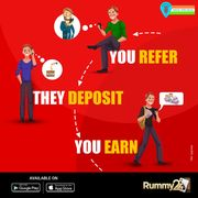 Reffer Friends & Earn cash | Exciting Offer on Rummy24