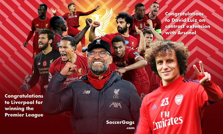 Congratulations to Liverpool & Luiz