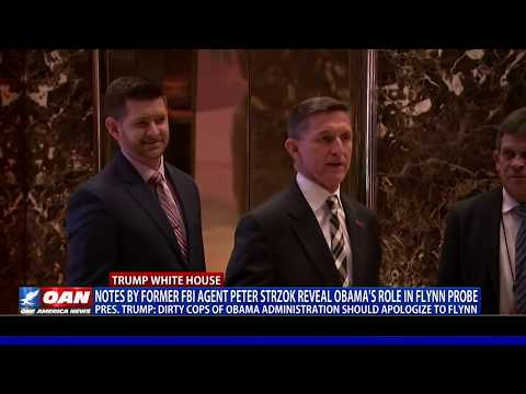 Notes by fmr. FBI agent Peter Strzok reveal Obama's role in Flynn probe