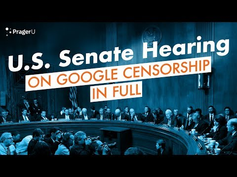 Dennis Prager and Google VP Testify Before the U.S. Senate on Tech Censorship