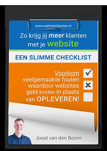 Checklist Zo krijg je meer klanten met je Website