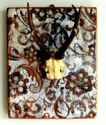 Krickerl aus Paisley Holztafel