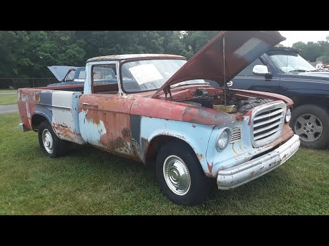Classic Car Shopping With Pam 1962 Studebaker Champ Pickup  At the 2020 Spring Carlisle Car Corral