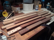 New batch of necks on the bench