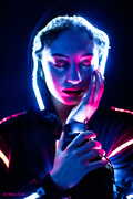 Lady in Led