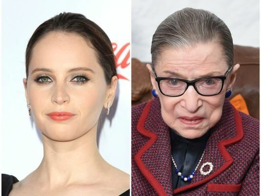 The actress playing ruth bader ginsberg in the new propoganda movie is a dead ringer for her