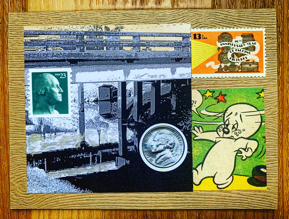 mail art collage for Thea