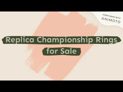 Replica Championship Rings for Sale