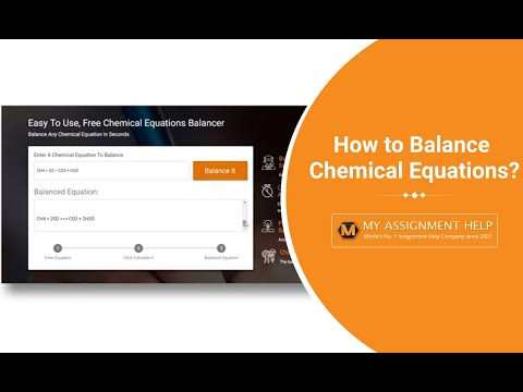 How to Balance Chemical Equations with MyAssignmenthelp's Free Tool?