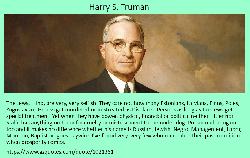 Harry S Truman on Underdogs