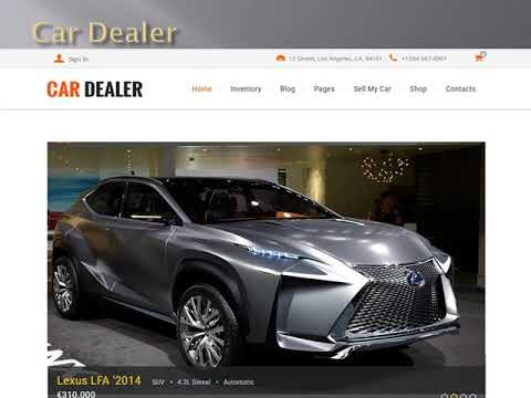 Wordpress theme for Automotive - Wp Web Themes